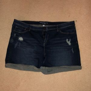 Boutique + Distressed Jean Shorts